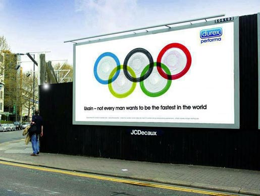 Durex Usain Condoms billboard