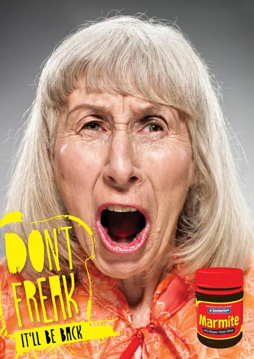 Marmite Don't Freak Street Poster