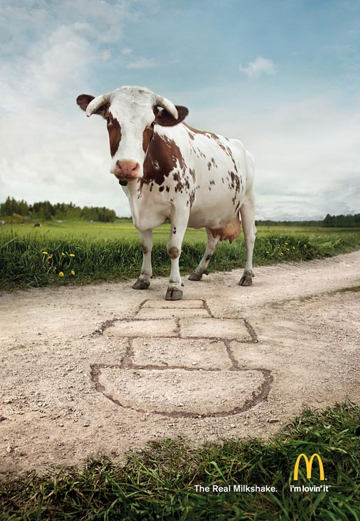 McDonalds Real Milkshake Hopscotch Cow