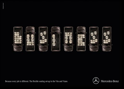 Mercedes Seat Typography - Business