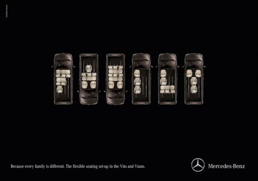 Mercedes Seat Typography - Family