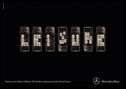 Mercedes Seat Typography - Leisure