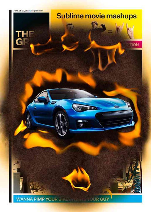 Subaru Scorched The Grid Lenticular