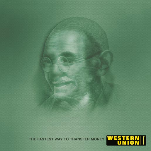 Western Union Mahatma Gandhi and Benjamin Franklin