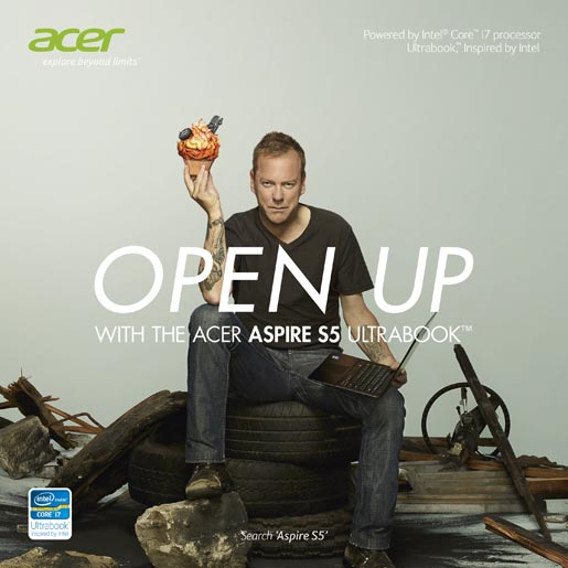 Acer Jack Bauer Cupcake Print ad