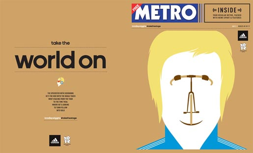 Adidas Take The Stage Metro Wrap - Bradley Wiggins by Noma Bar
