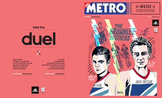 Adidas Take The Stage Metro Wrap - Brownlee Brothers by Stevie Gee