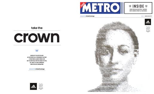 Adidas Take The Stage Metro Wrap - Jessica Ennis by Ian Wright