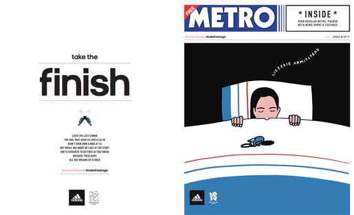 Adidas Take The Stage Metro Wrap - Lizzie Armistead by Geoff McFetridge