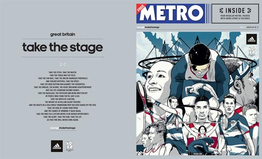 Adidas Take The Stage Metro Wrap - Opening Ceremony by Joshua Budich