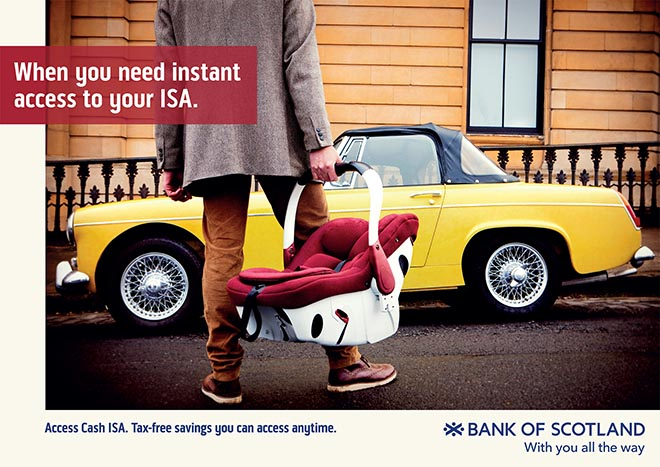 Bank of Scotland With You All the Way - instant access to cash ISA