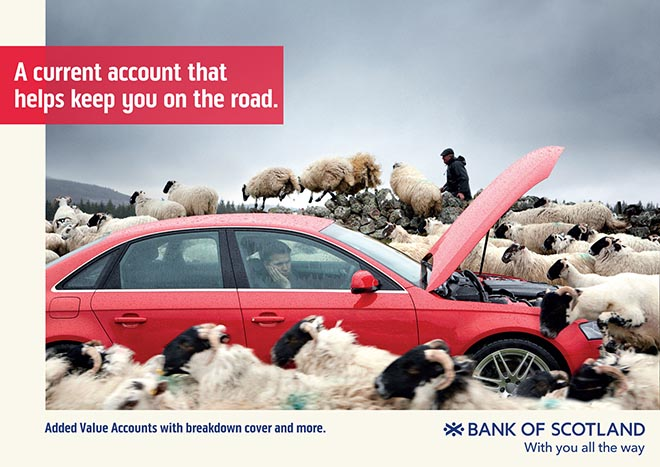 Bank of Scotland With You All the Way - Keeping you on the road