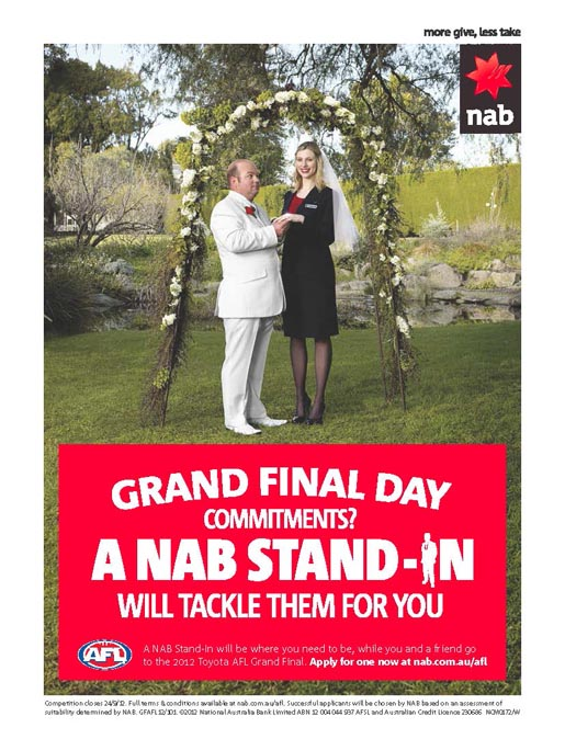 NAB Stand In Wedding