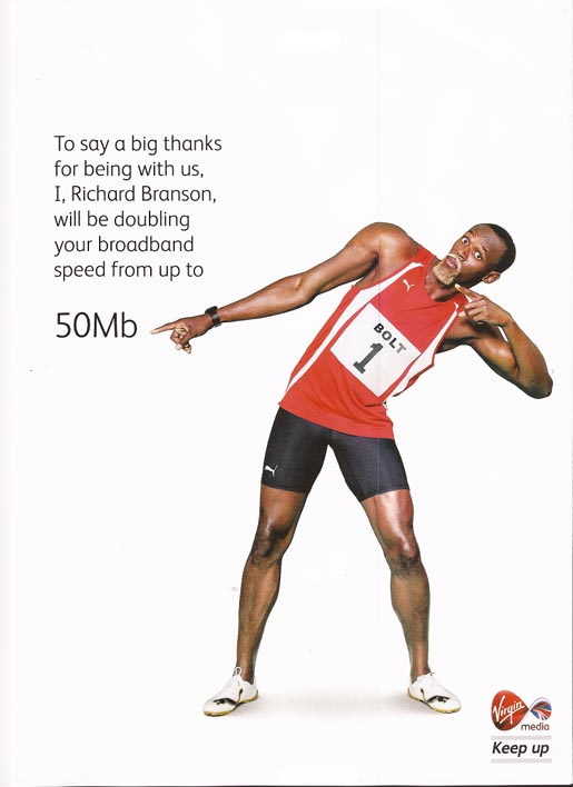 Usain Bolt is Richard Branson ad
