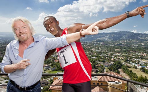 Usain Bolt is Richard Branson