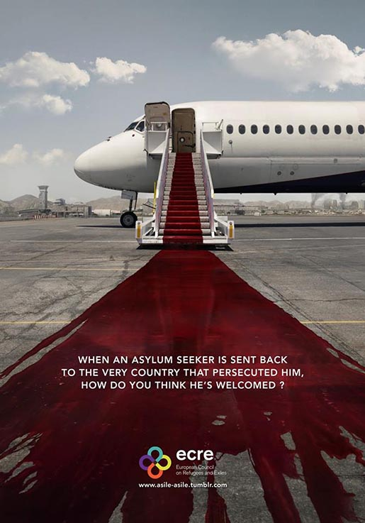 ECRE Red Carpet for Refugees print ad