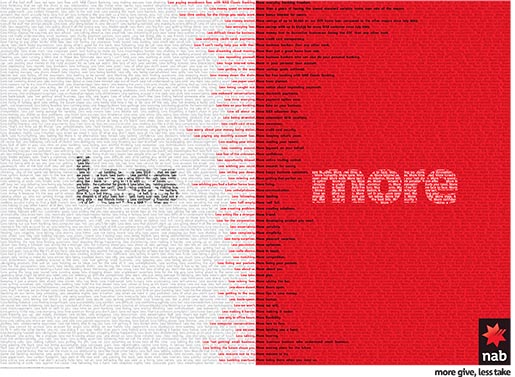 NAB Less More Manifesto Newspaper ad