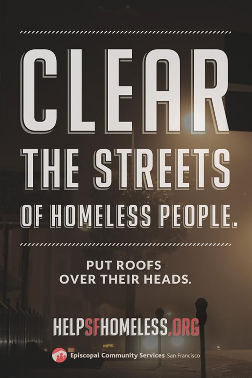 ECS Clear the Streets of homeless people - put a roof over their heads