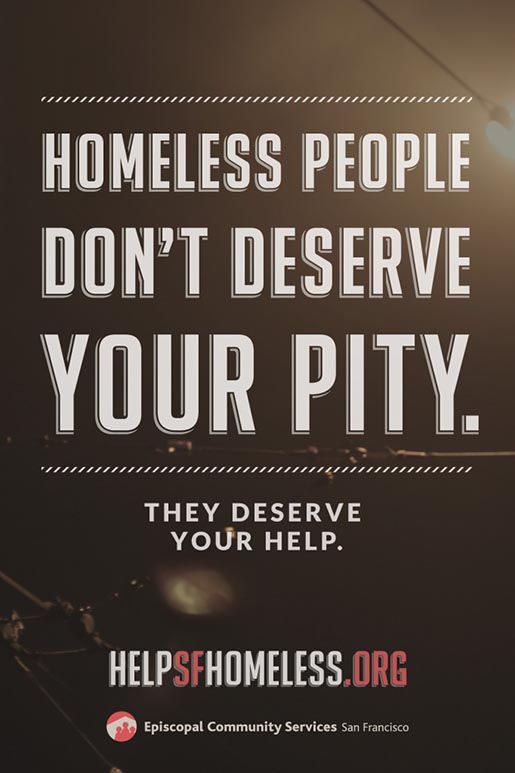ECS Homeless people don't deserve your pity, they deserve your help