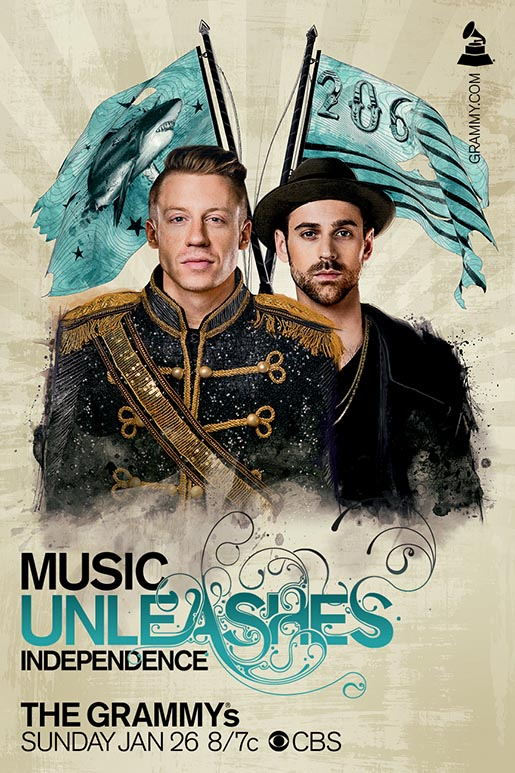 Grammys Awards Music Unleashes Independence - Ryan Lewis and Macklemore