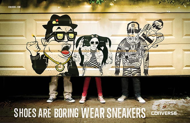 Converse Garage Door print advertisement