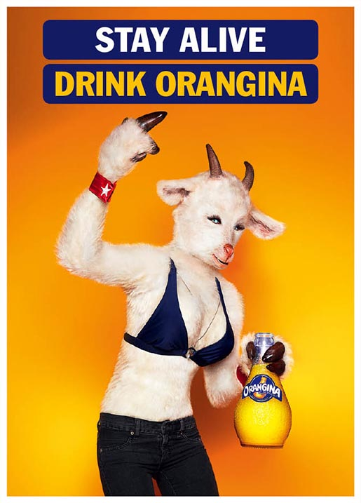 Stay alive drink Orangina