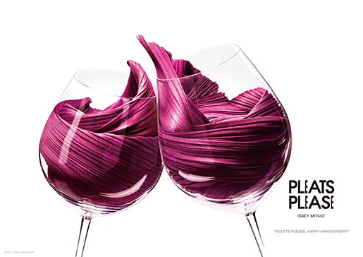 Pleats Please Red Wine