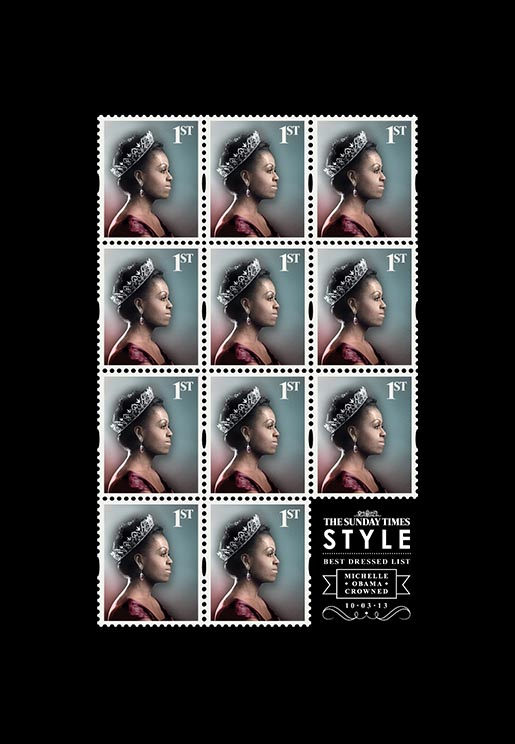 Sunday Times Best Dressed Michelle Obama stamps
