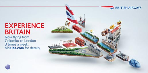 British Airways Plane Experience Britain billboard