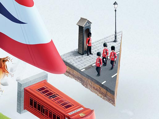 British Airways Plane ad detail
