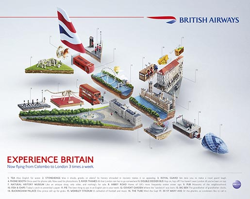 British Airways Plane ad