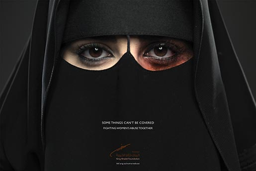 King Khalid Foundation Womens Abuse poster