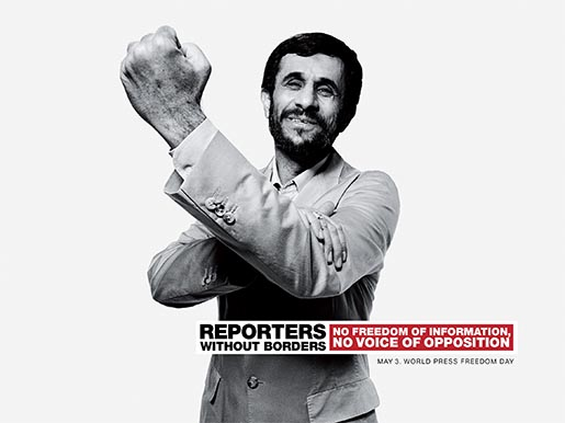 Reporters Without Borders Ahmadinejad