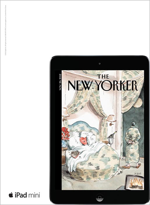 Apple iPad Mini New Yorker magazine ad