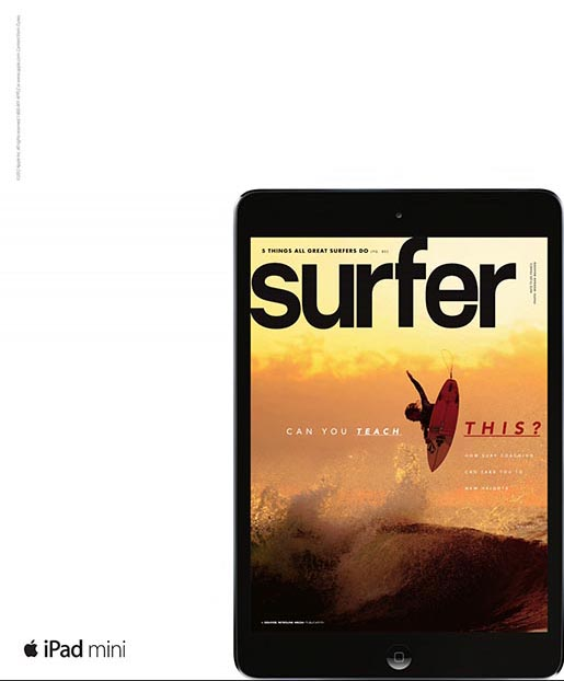 Apple iPad Mini Surfer magazine ad