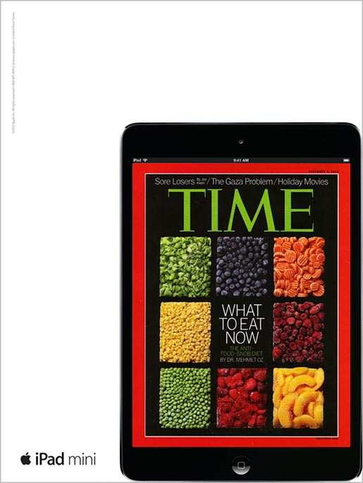 Apple iPad Mini Time magazine ad