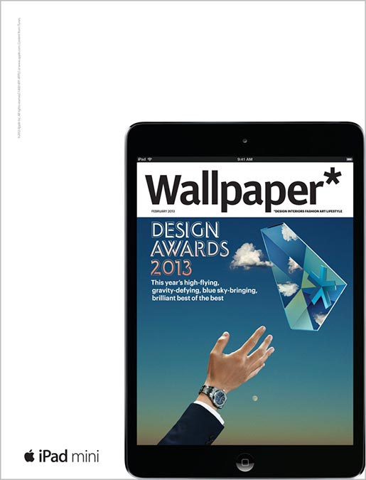 Apple iPad Mini Wallpaper magazine ad