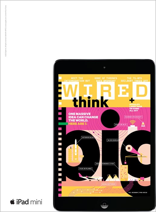 Apple iPad Mini Wired magazine ad