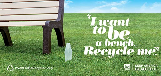 I Want to Be A Bench Recycle Me
