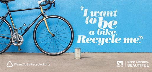 I Want to Be A Bicycle Recycle Me