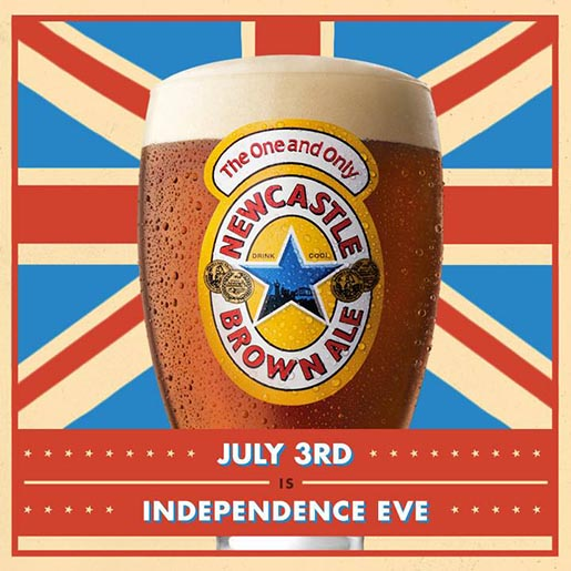 Newcastle Brown Independence Eve is July 3
