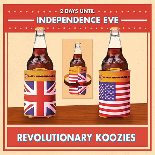 Newcastle Brown Independence Eve Revolutionary Koozies