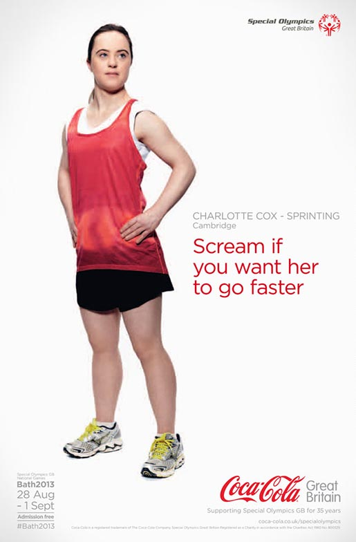 Coca Cola Special Olympics Charlotte Cox poster