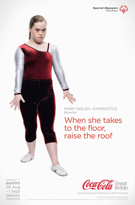 Coca Cola Special Olympics Mary Nolan poster