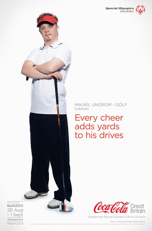 Coca Cola Special Olympics Mikael Undrom poster