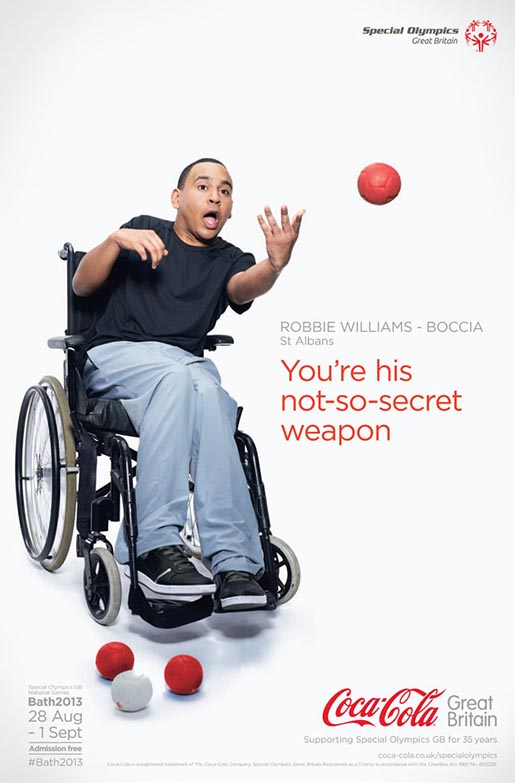 Coca Cola Special Olympics Robbie Williams poster