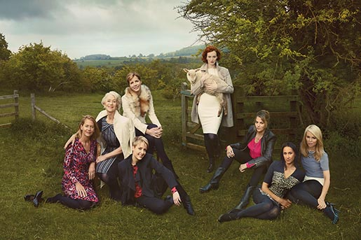Marks & Spencer Leading Ladies in British countryside