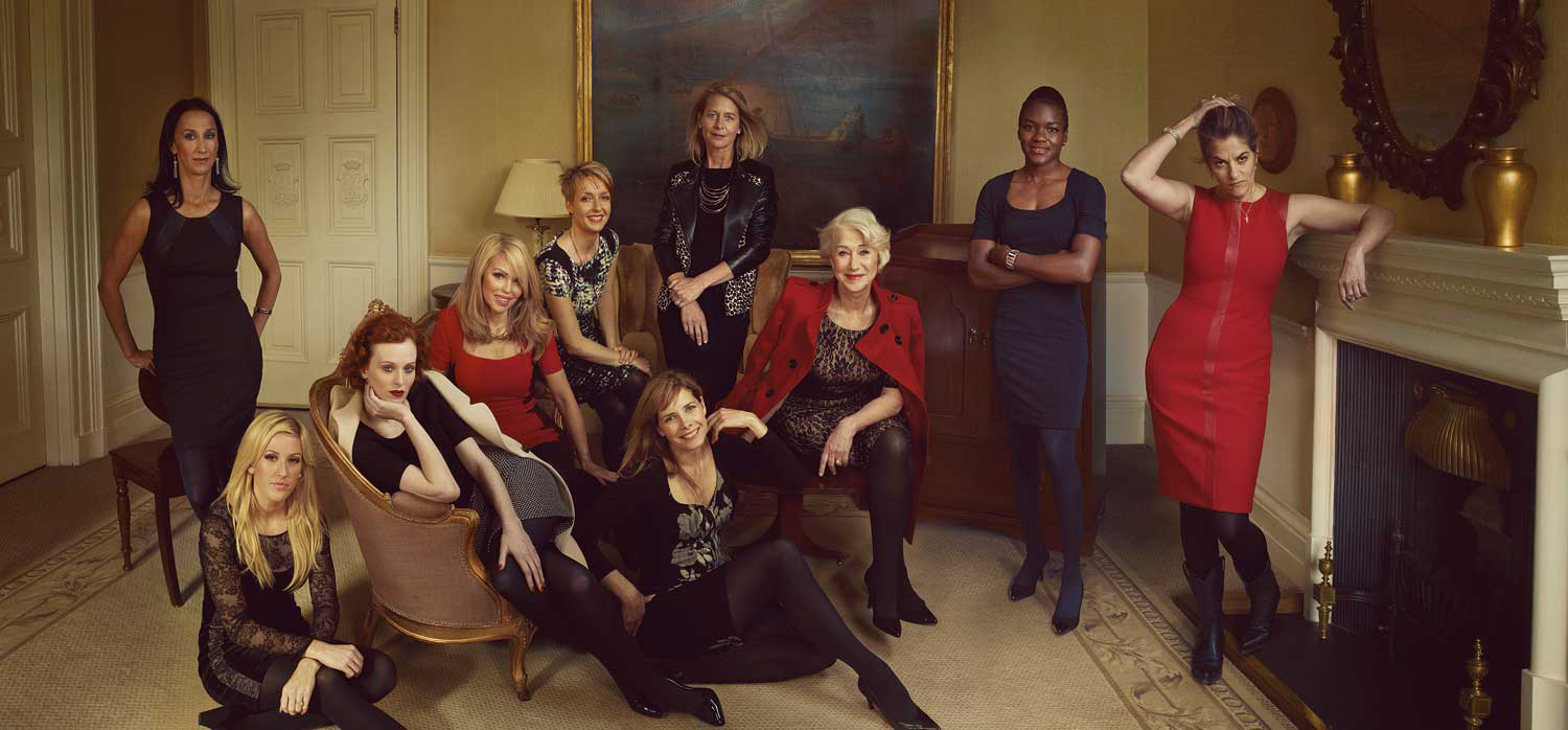 Marks & Spencer Leading Ladies in artist's studio