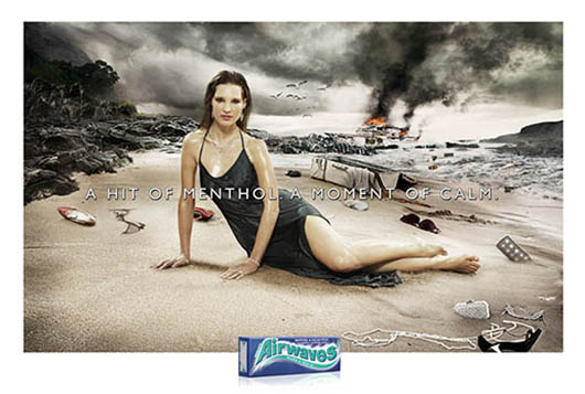Airwaves Beach print ad