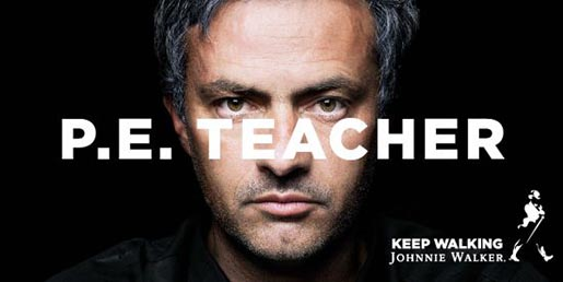 Johnnie Walker print ad Jose Mourinho PE Teacher